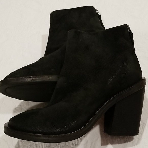Marsell Stacked Heel Black Bootie size 6.5
